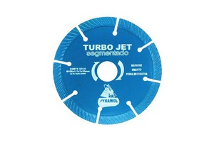 Disco de corte diamantado turbo